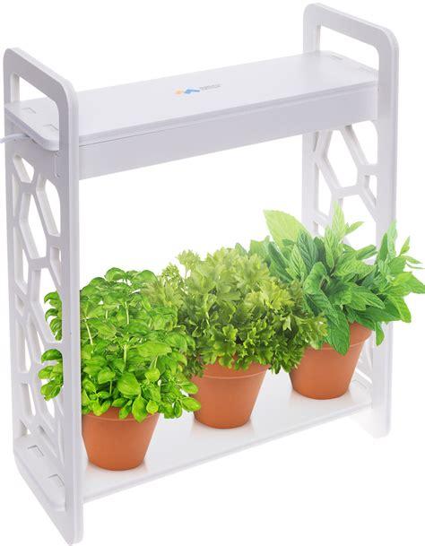mindful design  led indoor  home mini planter herb