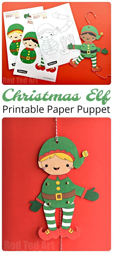 printable movable elf 254001 best kid blogger network activities crafts images