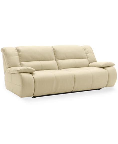 Franco Leather Reclining Sofa Double Power Recliner 86 Quot W Franco Leather Reclining Sofa