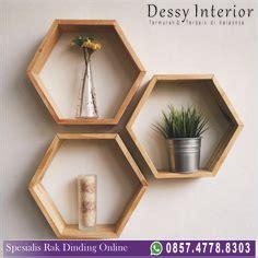 Jual Rak Hexagonal diy haz una bonita estanteria de madera con forma de