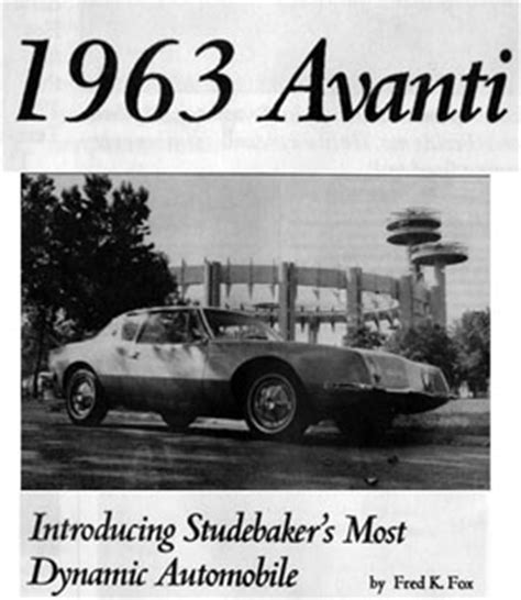 10160 Wheels 63 Studebaker Ch bob s studebaker resource website avanti database