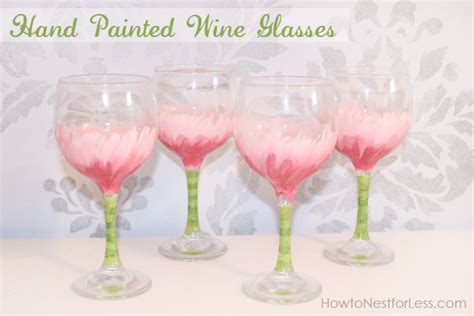 Hand Painted Flower Wine Glasses   How to Nest for Less?