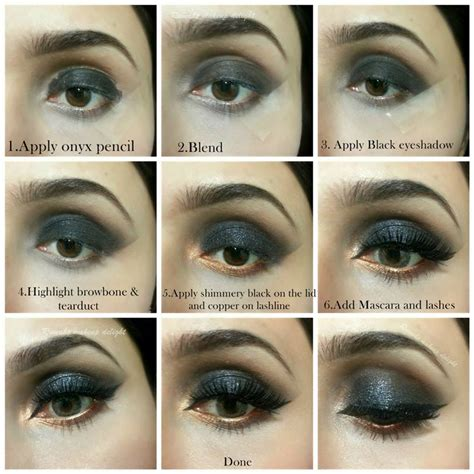 eyeshadow tutorial for round eyes black smokey eyes makeup tips tutorial 2015 india pakistan