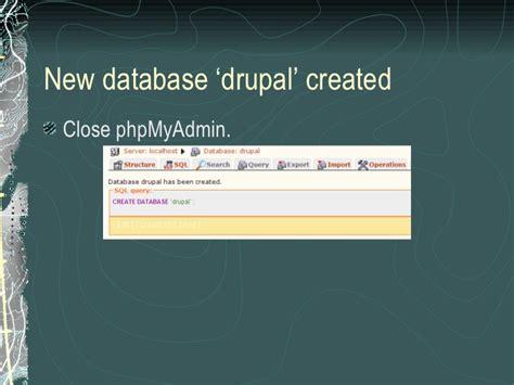 installing drupal xp installation of drupal on windows xp with xampp