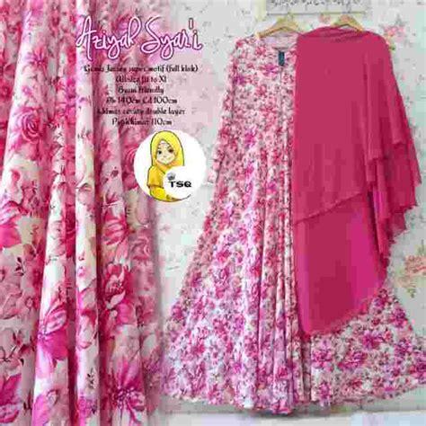 New Gamis Lipina Syari Pink baju gamis cantik b025 jersey busana muslim syari modern