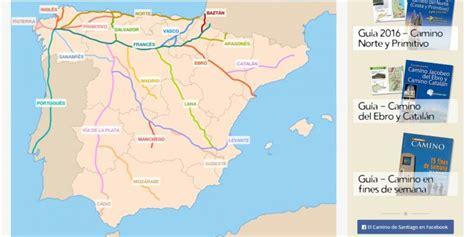 camino de santiago mappa mapa camino de santiago tracks y perfiles de las rutas
