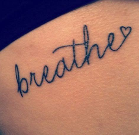 tattoo quotes just breathe 37 awesome breathe tattoos