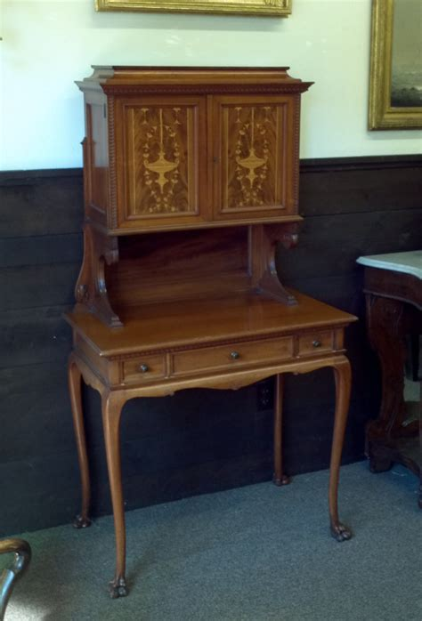 8251 philadelphia mahogany desk c1890 for sale