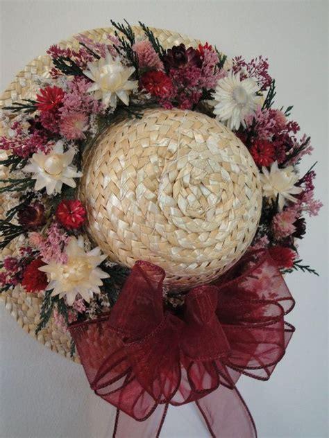 Flower Straw Hat dried flower straw hat dried flowers straw