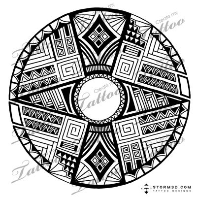 round tribal tattoos marketplace american pattern 5203