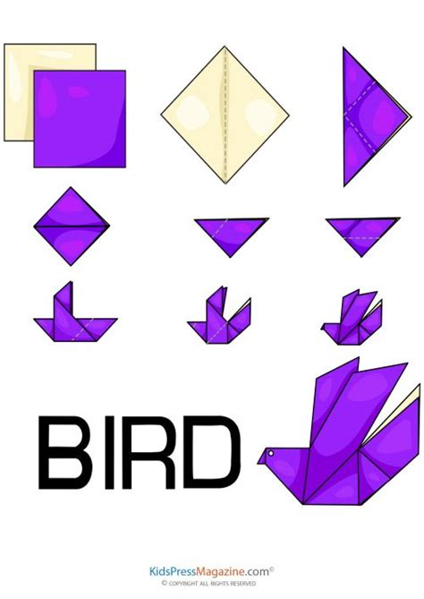 How To Make A Paper Bird Step By Step - 25 best ideas about origami birds on diy