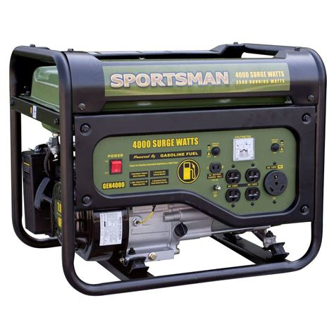 sportsman 4 000 watt gasoline powered portable generator