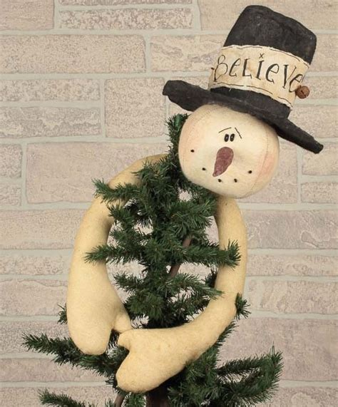 primitive country snowman tree topper believe snowman tree topper primitive home decors