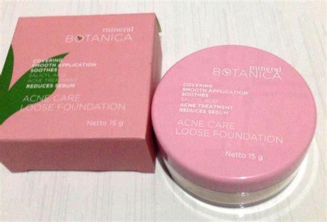 Harga Mineral Botanica Acne 6 rekomendasi produk bedak wajah untuk kulit sensitif dan