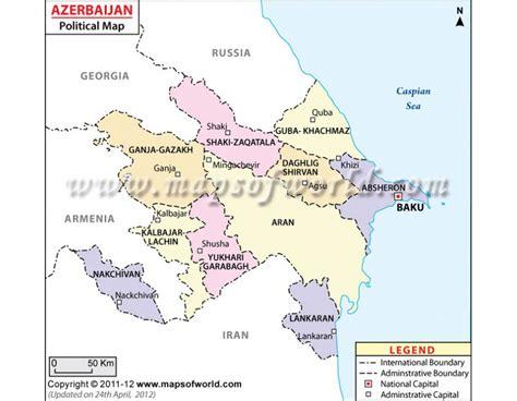 political map of azerbaijan buy azerbaijan political map