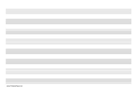 printable manuscript paper landscape printable music paper with eight staves on a4 sized paper