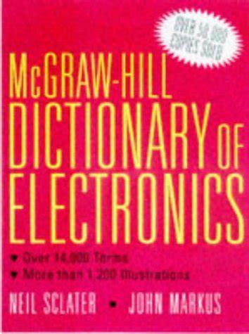 mcgraw hill electronics dictionary 9780070578371 slugbooks
