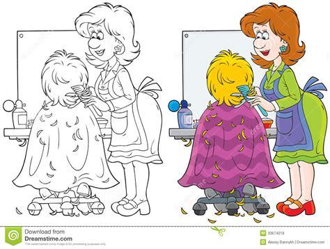 black white l shade hairdresser stock vector illustration of chair barber
