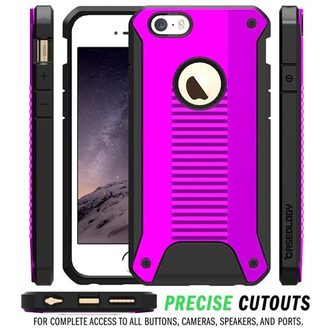 Iphone 6 6s Plus Rugged Armor Caseology Hybird Carbon caseology rugged armor skal till apple iphone 6 6s lila themobilestore