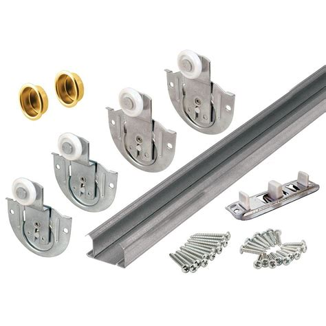 Closet Door Hardware Track Prime Line Bypass Closet Door Track Kit 163591 The Home Depot