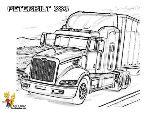 peterbilt semi truck coloring pages sketch coloring page big rig truck coloring pages free 18 wheeler boys