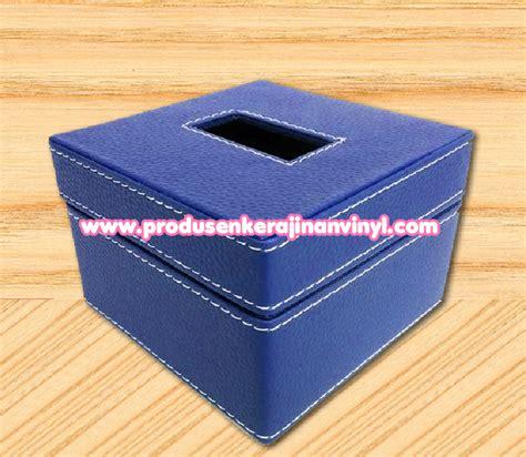 Freezer Box Kecil Murah kerajinan box tisu kecil warna biru pengrajin vinyl