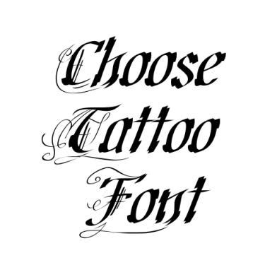 reversible tattoo font generator fancy tattoo font generator