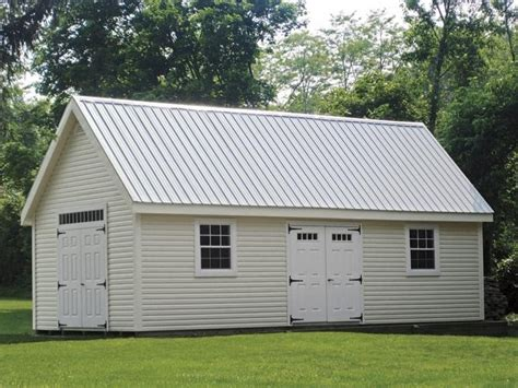 light metal roof penn structures light gray metal roof garage door