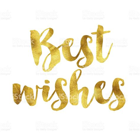 best wishes in best wishes gold foil message stock vector 524722114
