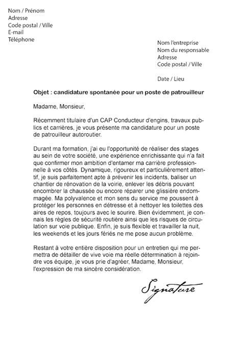 Lettre De Résiliation Vinci Autoroute Lettre De Motivation Patrouilleur Autoroute Mod 232 Le De Lettre