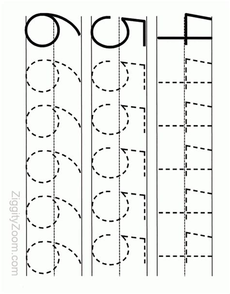 printable tracing number 4 number tracing worksheet numbers 4 to 6 tracing