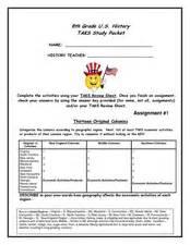 8th grade u.s. history task study packet 8th grade