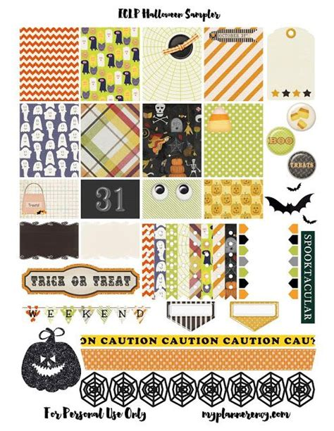 free printable halloween planner stickers free printable halloween sler for the erin condren life