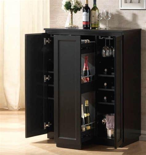 acme furniture ioanis black finish wine bar 97020