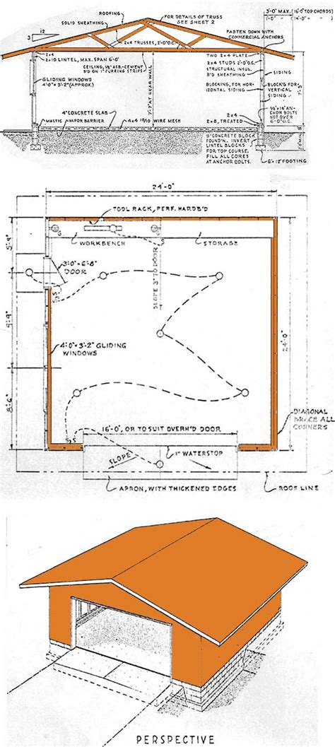 build a garage plans 24 215 24 garage shed plans how to build a garage shed