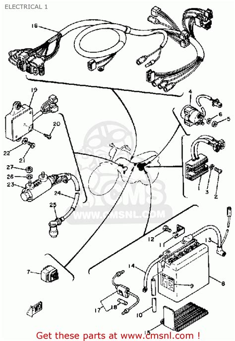 yamaha xt350 wiring diagram engine diagram and wiring