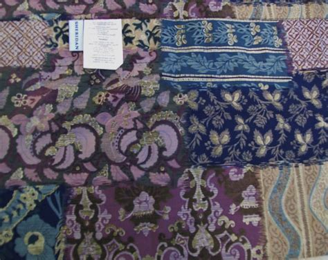 Blue Patchwork Curtains - patchwork printed window valance lavender blue
