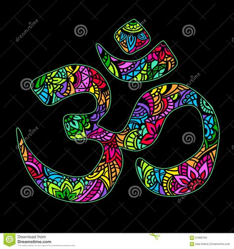 Om Design Om om indian design stock vector image 61866794