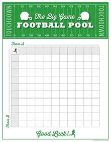 Office Football Pool Survivor Football Pool Template Free Premium Templates