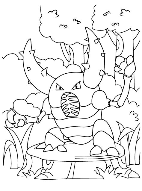 pokemon coloring pages heracross free coloring pages of series pokemon