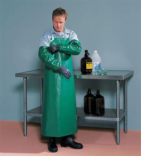 tingley chemical resistant bib apron green  length