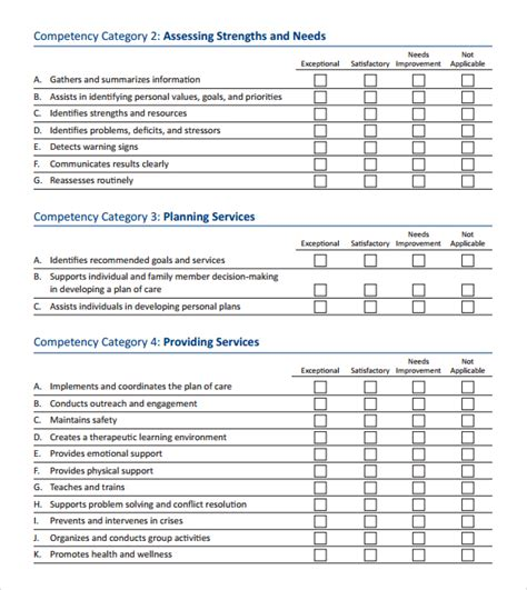 12 skills assessment templates word excel pdf formats