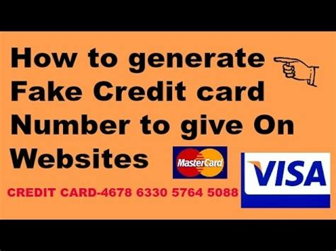 how to make credit card to credit card payment how to create credit card number for websites learn in