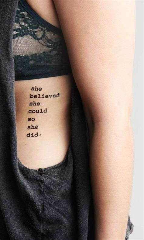 small quote tattoos on ribs 30 feminine rib ideas for that are