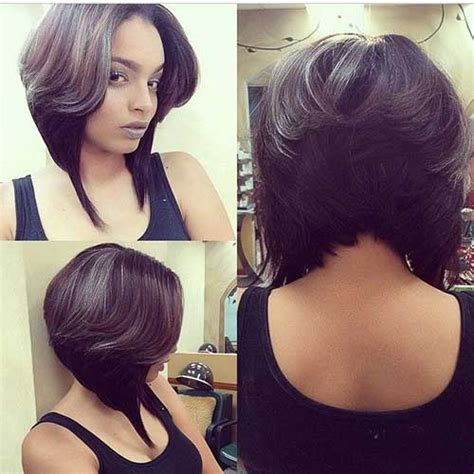 bob hairstyle long layers on top shorter layers underneath hair 20 best layered bob hairstyles short hairstyles 2017
