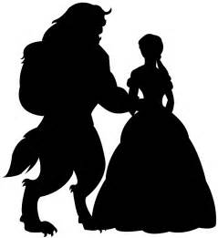 and the beast silhouette free vector silhouettes