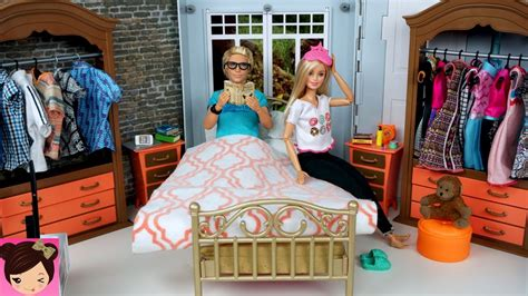 ken doll house barbie ken evening routine bedroom bathroom doll house