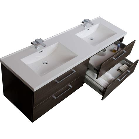 67 Bathroom Vanity 67 Quot Modern Vanity Set Grey Oak Tn A1710 Go Conceptbaths