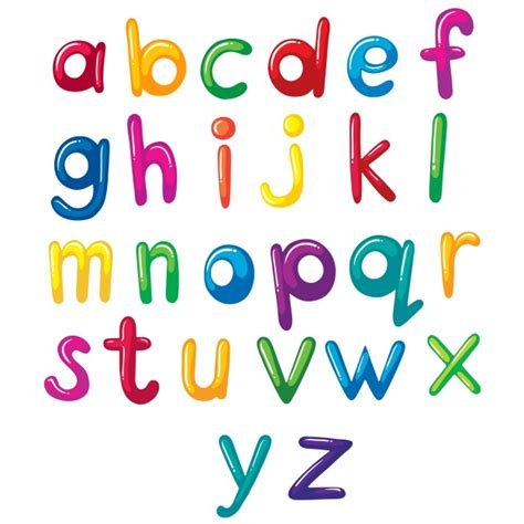 how to write a character letter coloured alphabet design vector free 1308