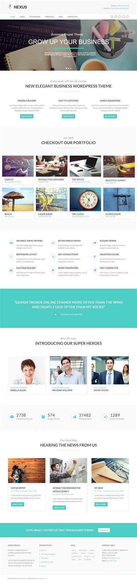 drupal themes nexus nexus premium responsive elegant business drupal theme